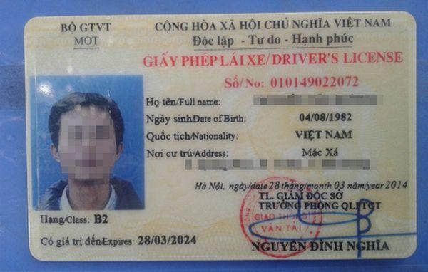 giấy phép lái xe ô tô hạng b2