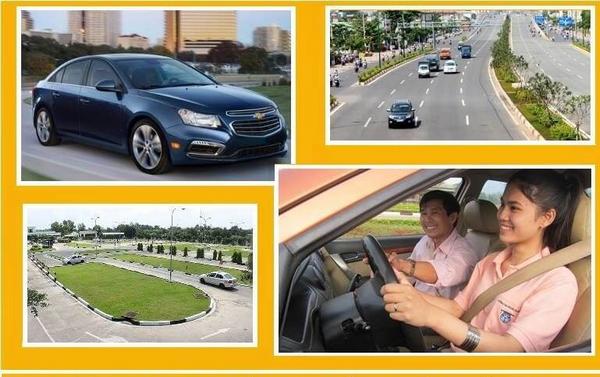 bảng giá học lái xe quận long biên