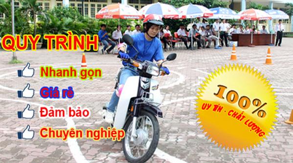 thi bằng lái xe máy quận cầu giấy